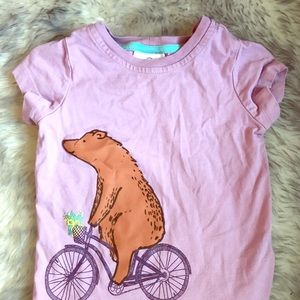 Hanna Anderson 90 (3T) Bear on bicycle shirt